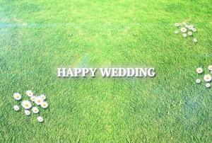 素材No.13「HAPPY WEDDING」芝生タイプ