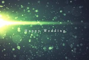 素材No.16「Happy Wedding」しっとりオシャレ