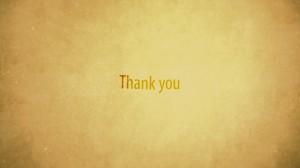 素材No.22「Thank you END」オシャレエンディング