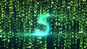 素材No.42「マトリックス風カウントダウン」Matrix Count Down