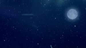素材No.83「雪降る夜・満月・Snow・Moon」