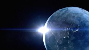 素材No.86「地球・光・太陽・宇宙」