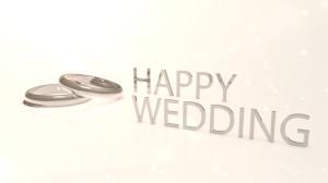 素材No.98「結婚指輪・ハッピーウェディング・HAPPY WEDDING」